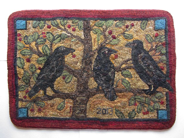 Mary Ann McKellar, The Turtle Gallery, Wool Hooked Rug, Maine, Art