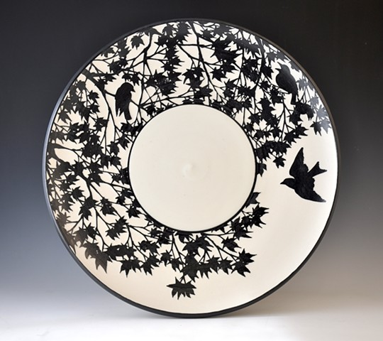 Etched Porcelain Plate