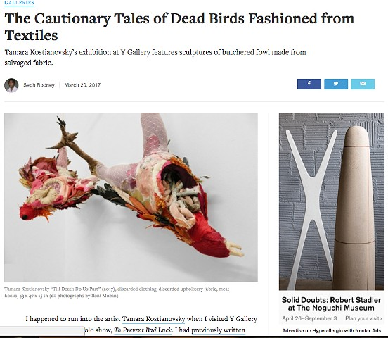 The Cautionary Tales of Dead Birds Fashioned from Textiles