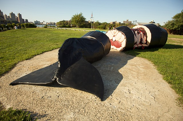 The Persistence of Agony, Installation View, Socrates Sculpture Park, Queens, NY, 2009