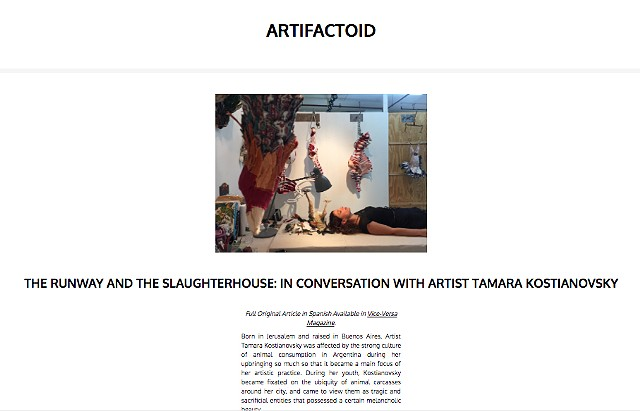 THE RUNWAY AND THE SLAUGHTERHOUSE: IN CONVERSATION WITH ARTIST TAMARA KOSTIANOVSKY