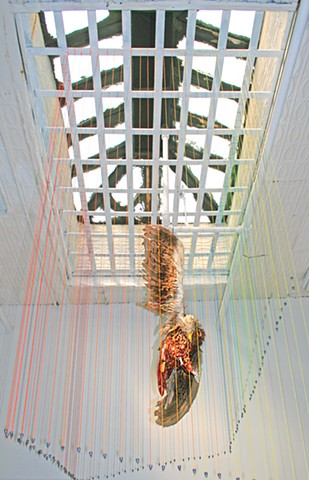 Dead Eagle Installation at Y Gallery NY