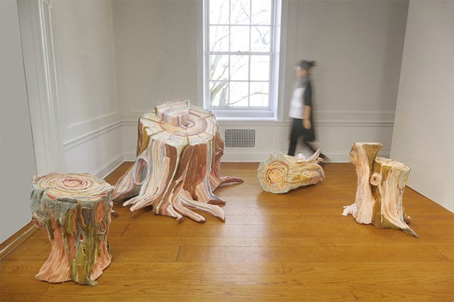 Nature Made Flesh, Installation View at Wave Hill Garden, Bronx, NY