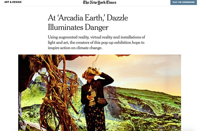 "At 'Arcadia Earth,' Dazzle Illuminates Danger"", The New York Times"