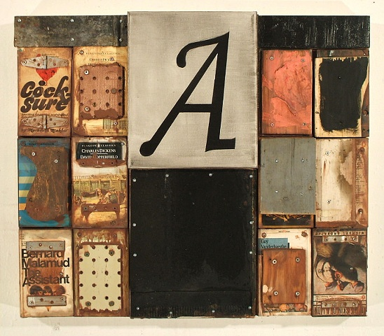 mixed media book piece
