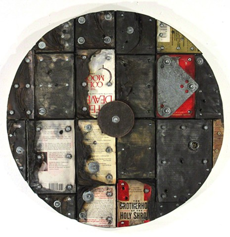mixed media assemblage book art Rauschenberg Jasper Johns