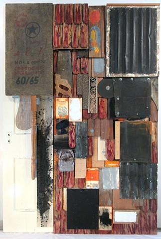 Assemblage door art book art Gagne Rauschenberg Schwitters