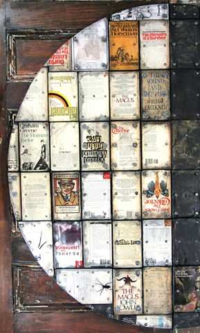 mixed media book art assemblage