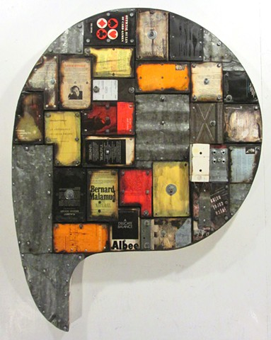 assemblage book+art burning Gagne Ottawa+art mixed+media