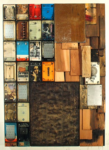 assemblage construction mixed media encaustic