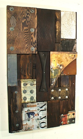 mixed media art assemblage book art