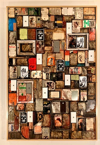 mixed media encaustic book art Schwitters Rauschenberg