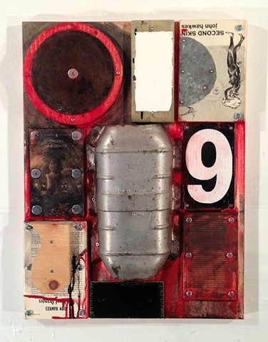 Mixed media art, artwork, collage, assemblage, found object