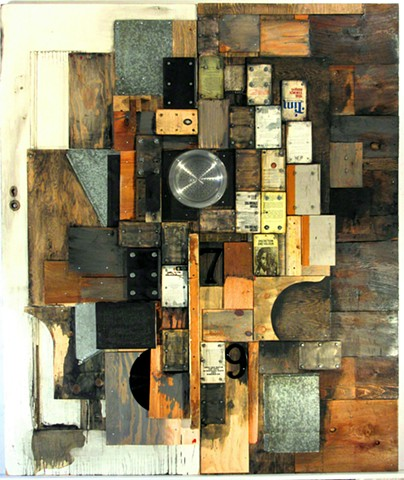 Book art recycled doors assemblage constructed art