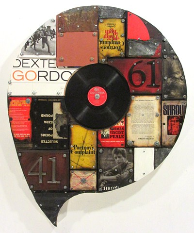 (book art) assemblage Schwitters Rauschenberg Gagne encaustic