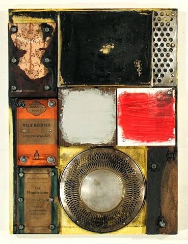 Ottawa artist Marc Gagne mixed media assemblage encaustic reclaimed books