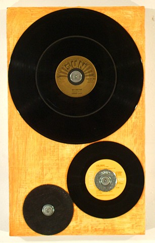 assemblage vinyl recycled repurposed