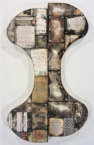 abstract book art (shaped canvas) Schwitters Rauschenberg Johns