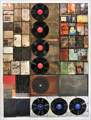Gagne book art mixed media Alpha+Gallery Schwitters Rauschenberg Johns