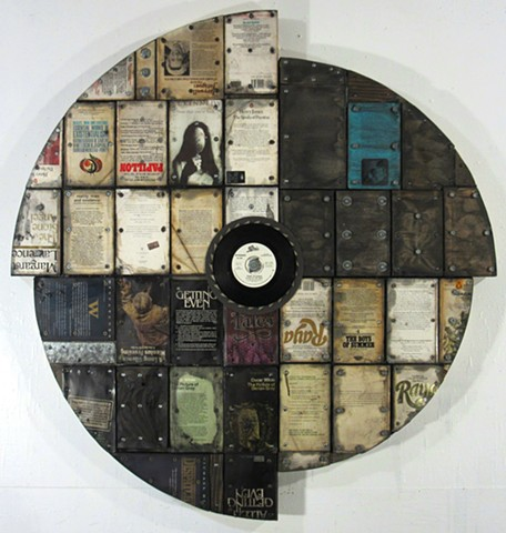 Mixed media book art The Clash assemblage Ottawa art