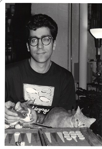 Artist and cats