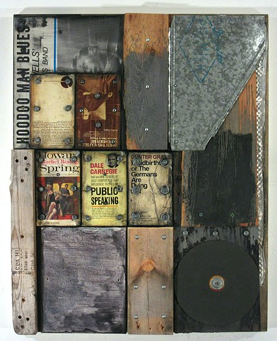 assemblage art Marc Gagne construction book art recycled