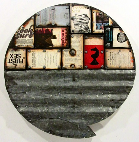 assemblage book+art burning encaustic Gagne Ottawa