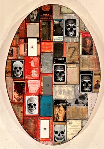 Assemblage collage bricolage bookart Canadian+art Alpha+Gallery Rauschenberg Schwitters