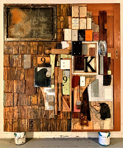 Assemblage collage bricolage bookart Canadian+art Alpha+Gallery Rauschenberg