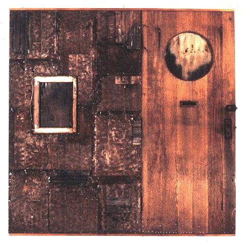 mixed media door piece