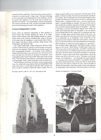 Article, The Interpretation of Architecture catalogue