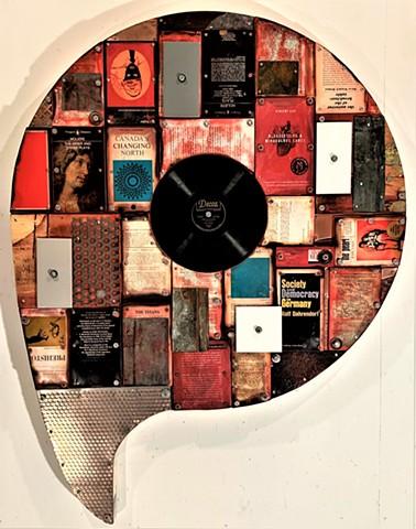 Gagne book art shaped art mixed media Alpha+Gallery Ottawa