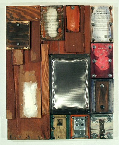 Mixed media, assemblage, book art, collage