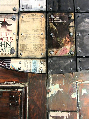 mixed media book art