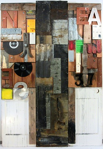 mixed media assemblage Gagne Tapies Schwitters Rauschenberg Johns