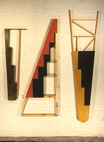 mixed media, 3 elements, approx 200 x 200 cm
