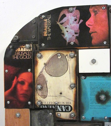 assemblage art mixed media book+art Gagne