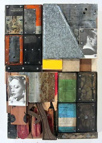 book art Marc Gagne art mixed media encaustic assemblage recycling