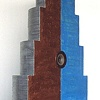 untitled staircase, silver, blue, copper (view 1)
