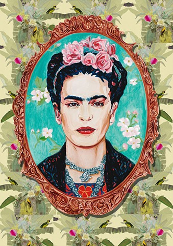 Frida Kahlo print available in various sizes and media