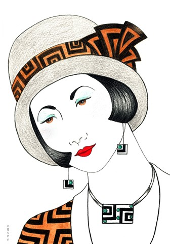 Beautiful Art Deco inspired art print