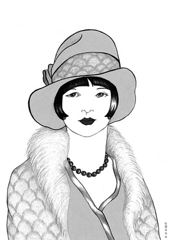 Beautiful Art Deco inspired art print. Art Deco. 1920`s. Vintage. 1920`s fashion.