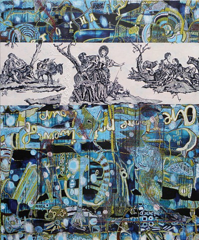 "Large detailed work from the ""toile de jouy"" series"