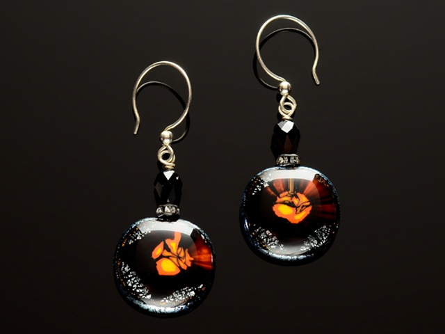 Intergalactic Glass Earrings