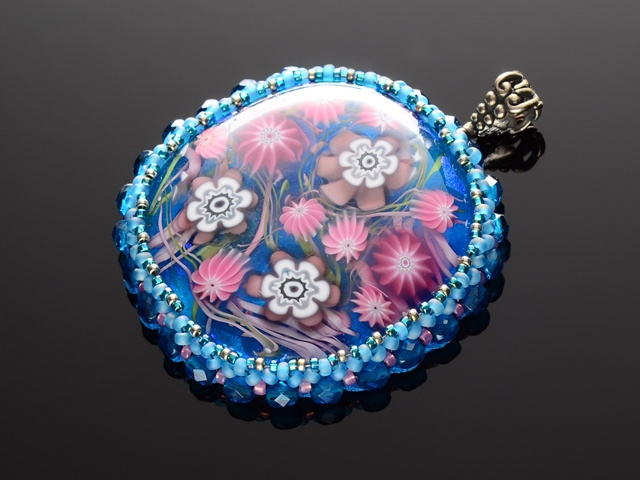 Glass Sea Anemone Garden Pendant
