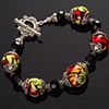 Graphic Fire Beads Bracelet