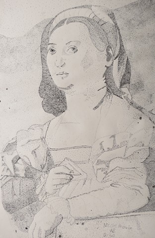 Untitled (Portrait Of A Lady by Jacopo Da Pontormo)