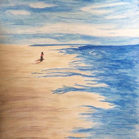Study of Beachwalker at Hudson