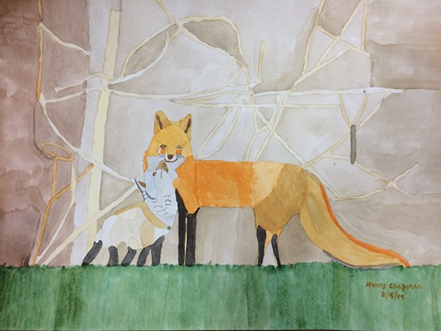 Red Fox And Child