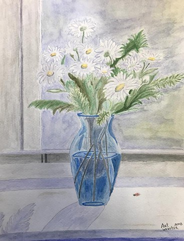 Study of M. McCarthy Vase of Summer Daisies